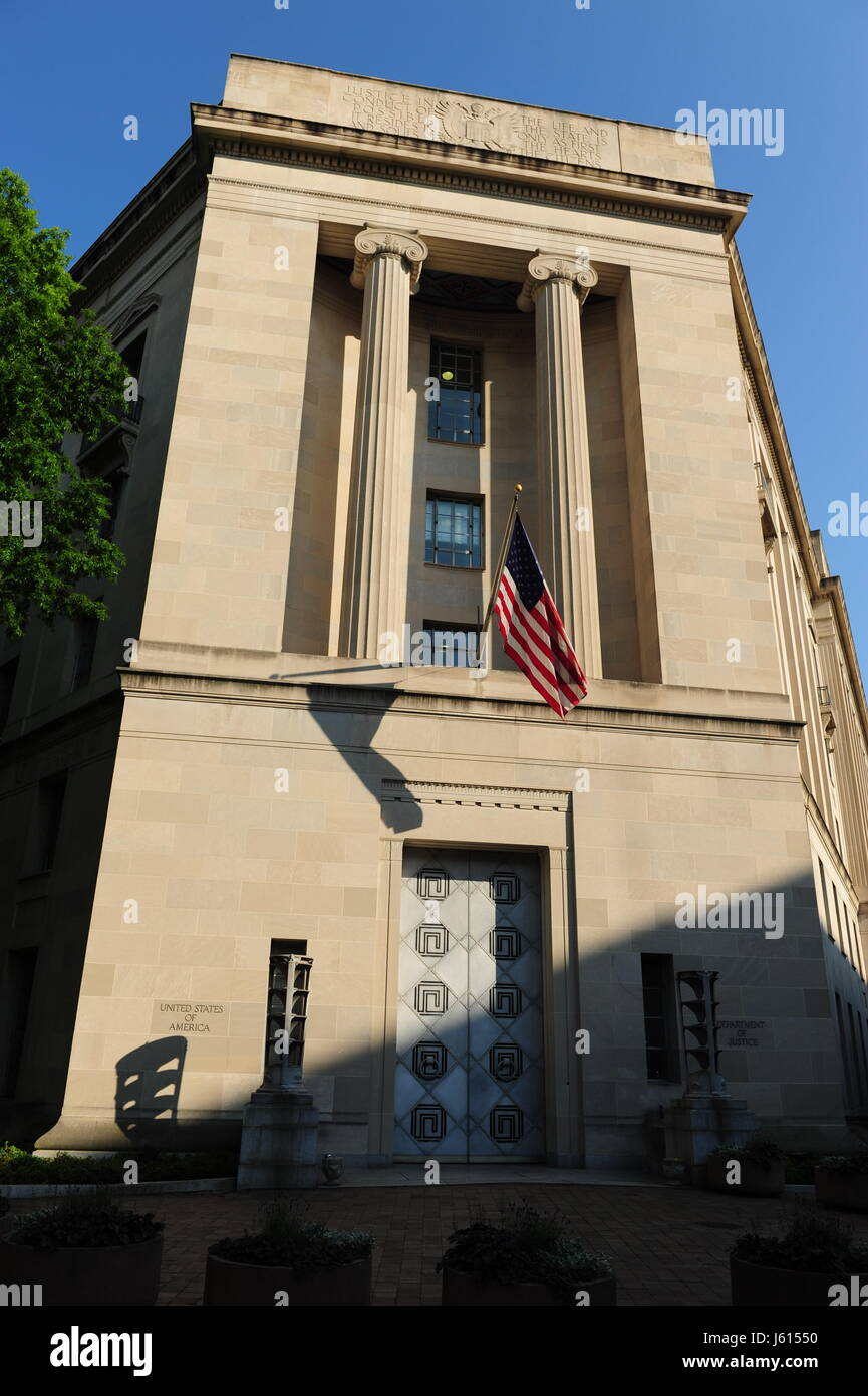USA Washington DC DOJ Department of Justice building on Pennsylvania Aven Stock Photo