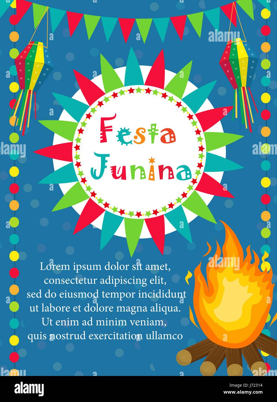 Festa junina greeting card invitation poster brazilian latin festa junina greeting card invitation poster brazilian latin american festival template for your designctor illustration stopboris Images