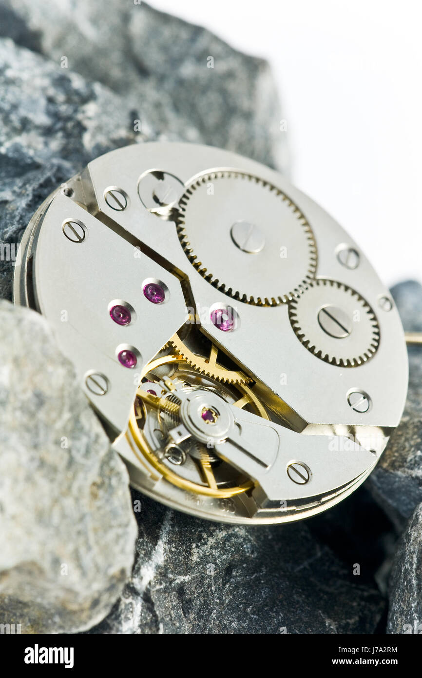 clockwork with gear wheels Stock Photo