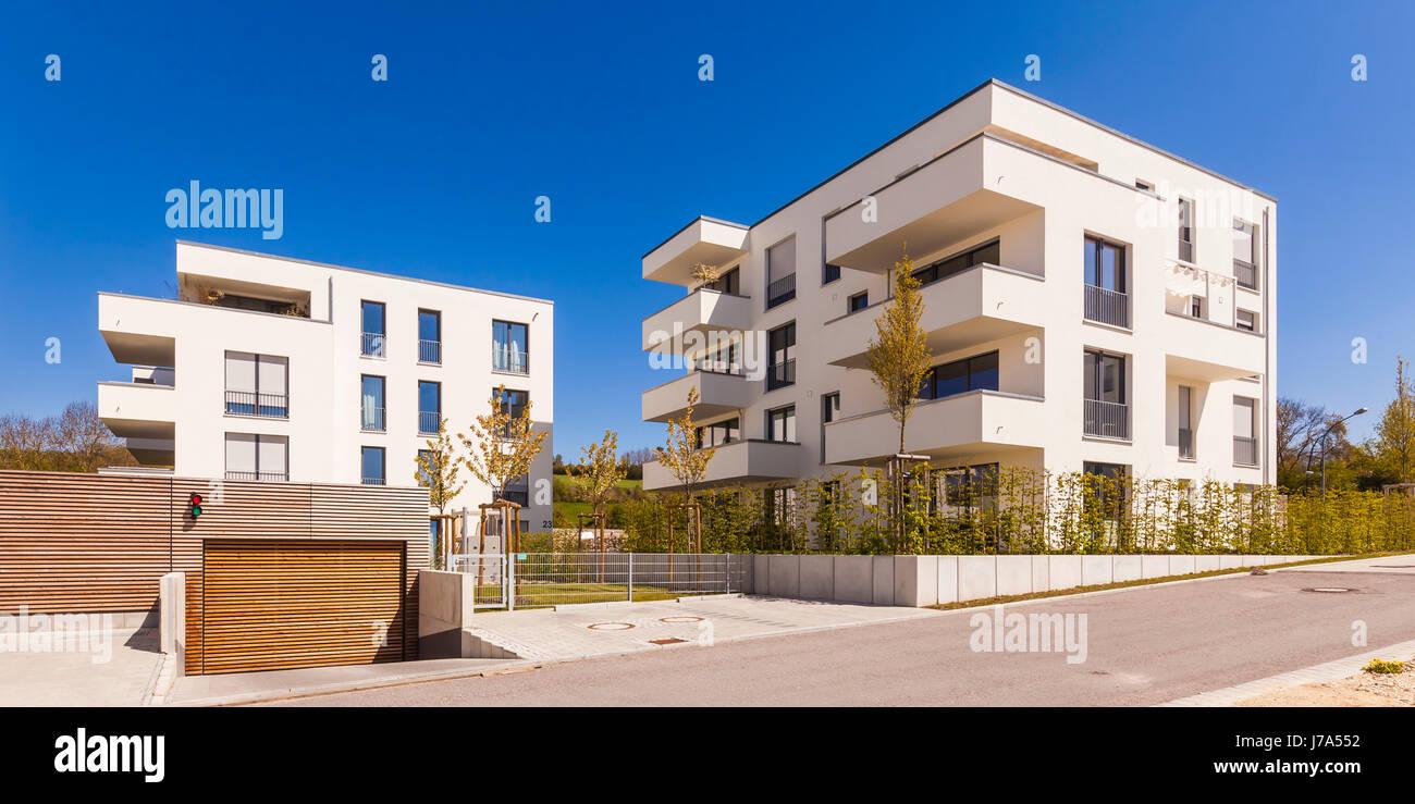 Moderne Mehrfamilienhäuser Bilder deutschland baden württemberg blaustein moderne stock photo