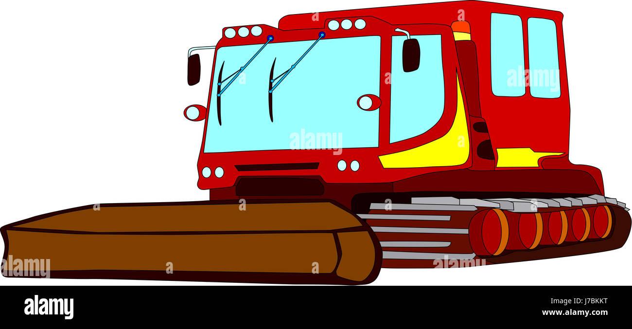 Isolated Illustration Cartoon Draw Railway Locomotive Train Engine