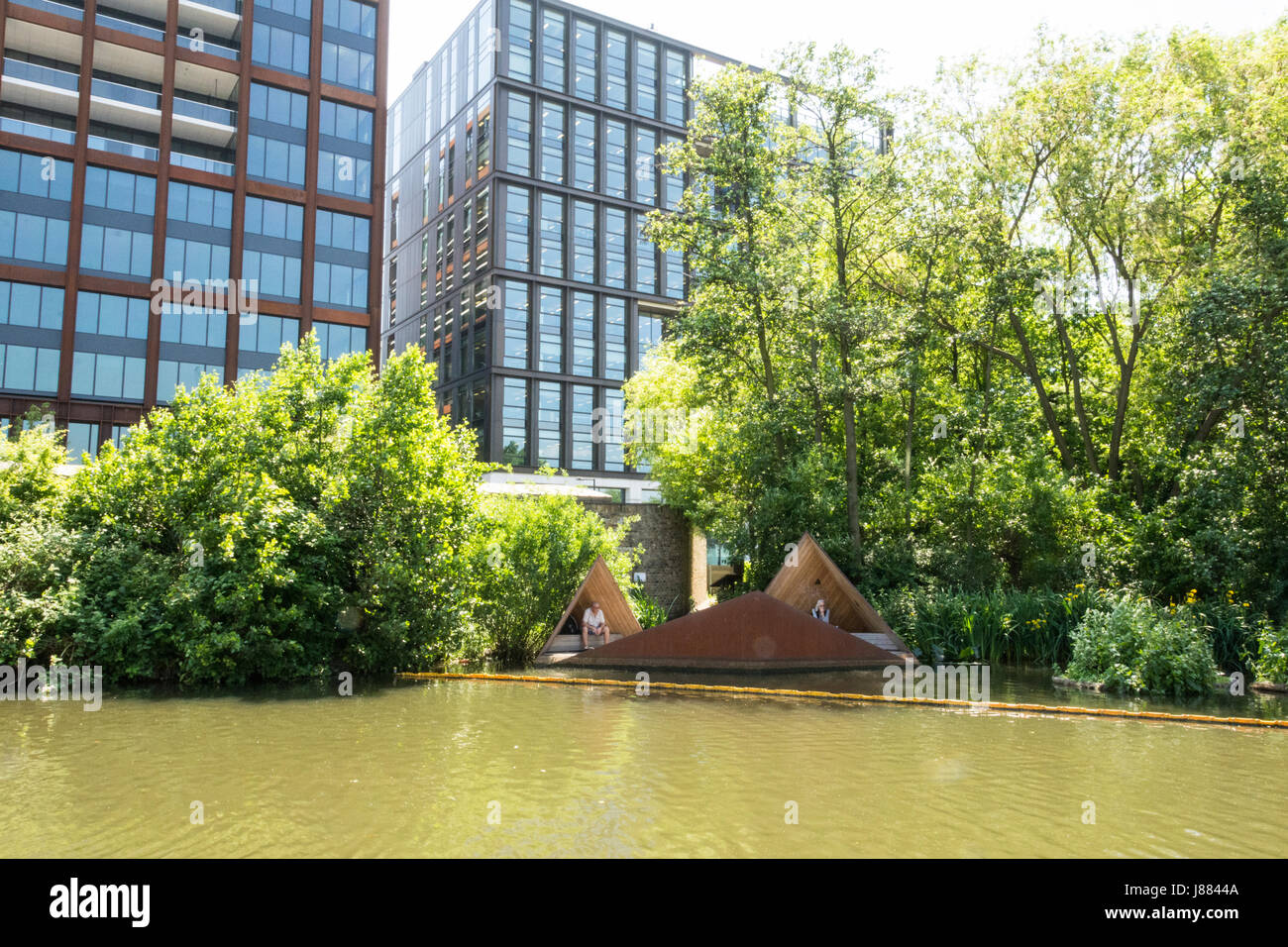 The Viewpoint in Camley Street Natural Park near King's Cross in London, England, UK. Stock Photo