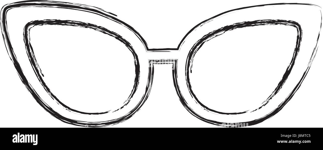 9500a2e69801 sketch draw sunglasses cartoon Stock Vector Art   Illustration ...