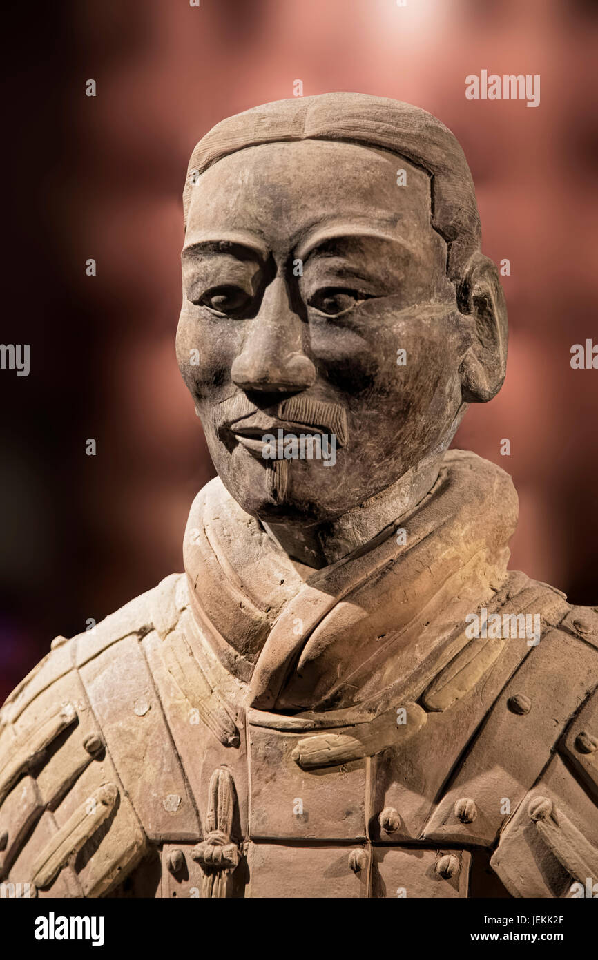 The Terracotta Army exhibit on display at the Shaanxi History Museum. Xian. China Stock Photo