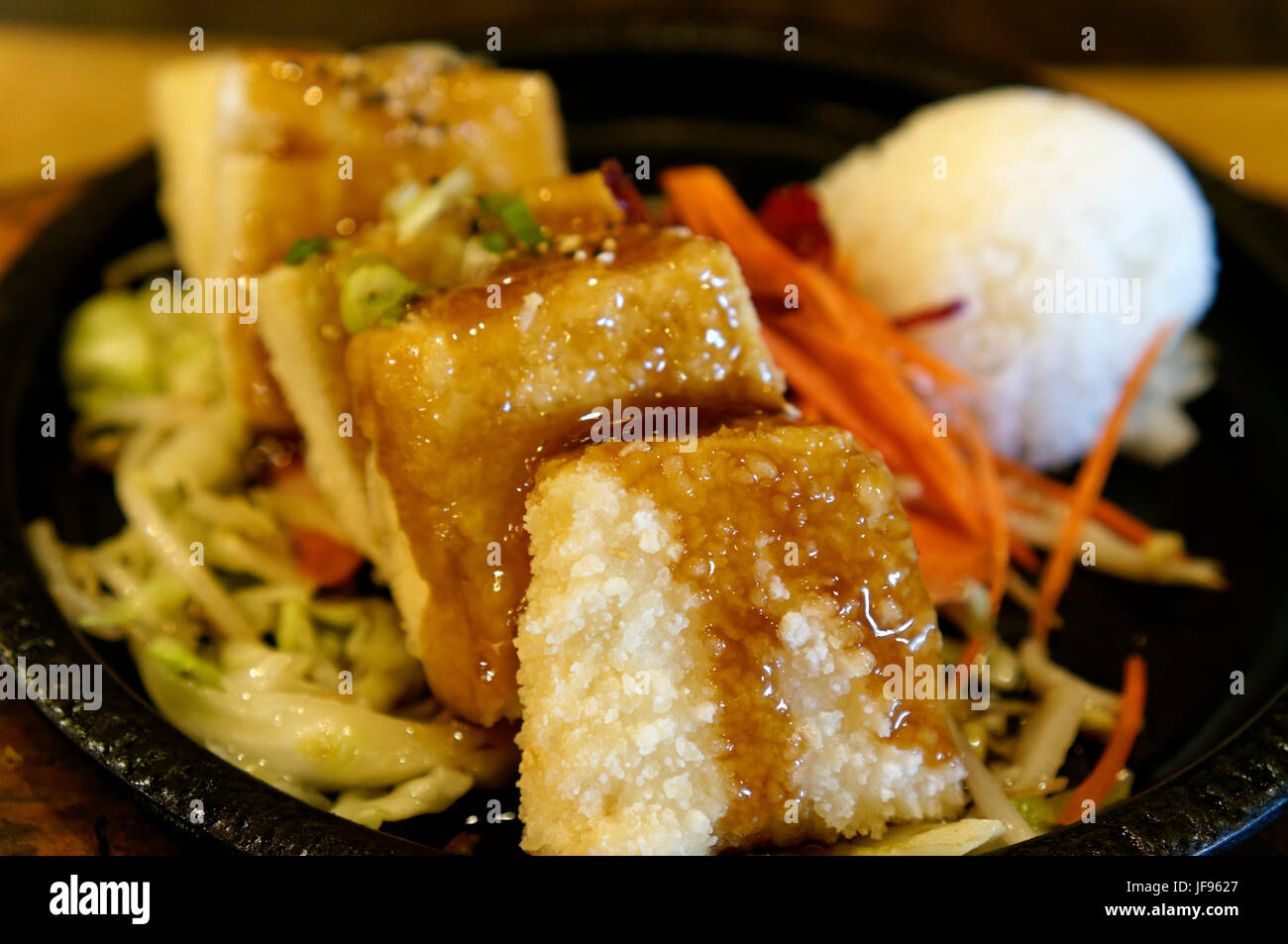 close-up-of-a-dish-of-japanese-tofu-teri