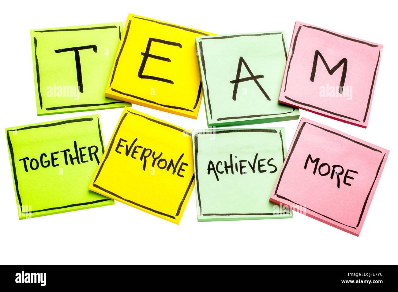 team acronym  together everyone achieves more   teamwork