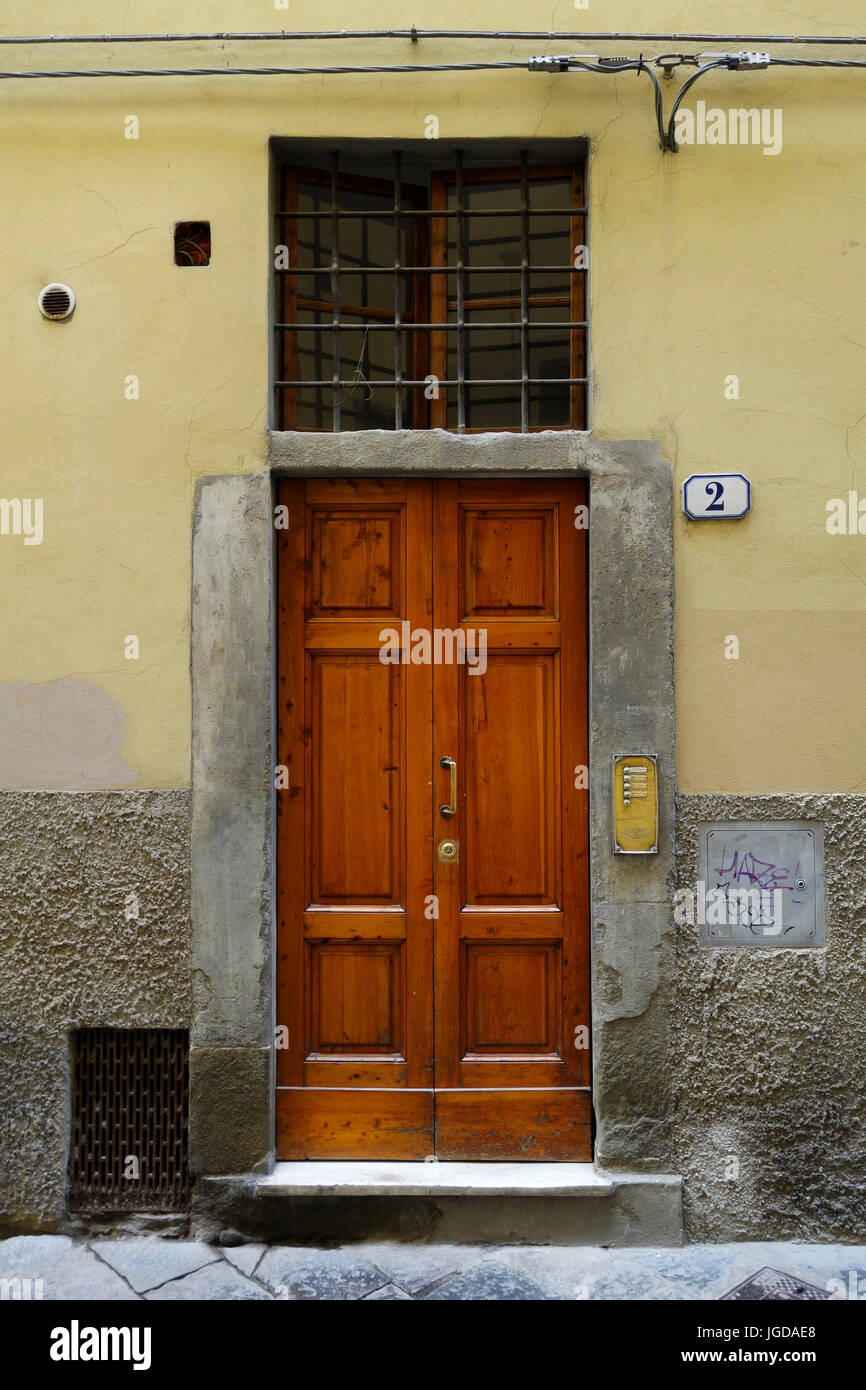 Front Entry Door To An Apartment Building, Florence, Italy