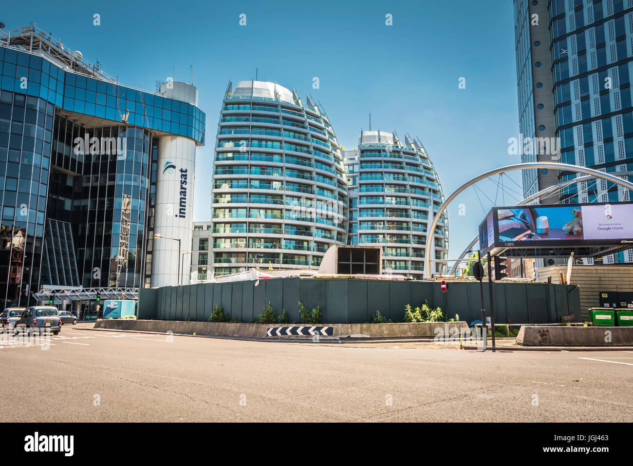 Silicon Roundabout in Old Street, London, UK, a digital hub for technology in the City of London, U.K. Stock Photo