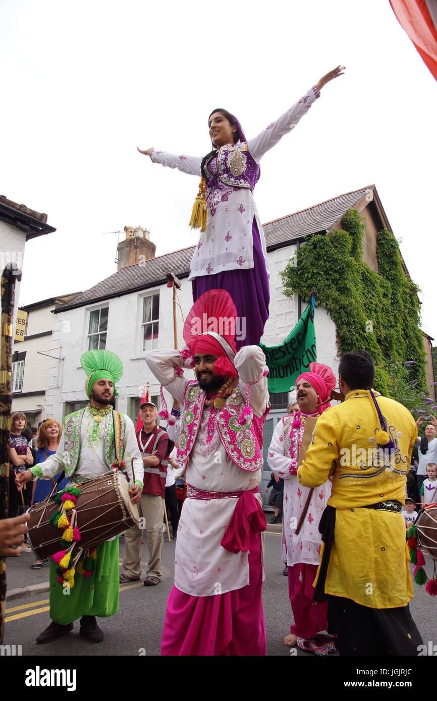 Llangollen, Wales, United Kingdom. 7th July, 2017. The Llangollen International Eisteddfod celebrates it's 70th Stock Photo