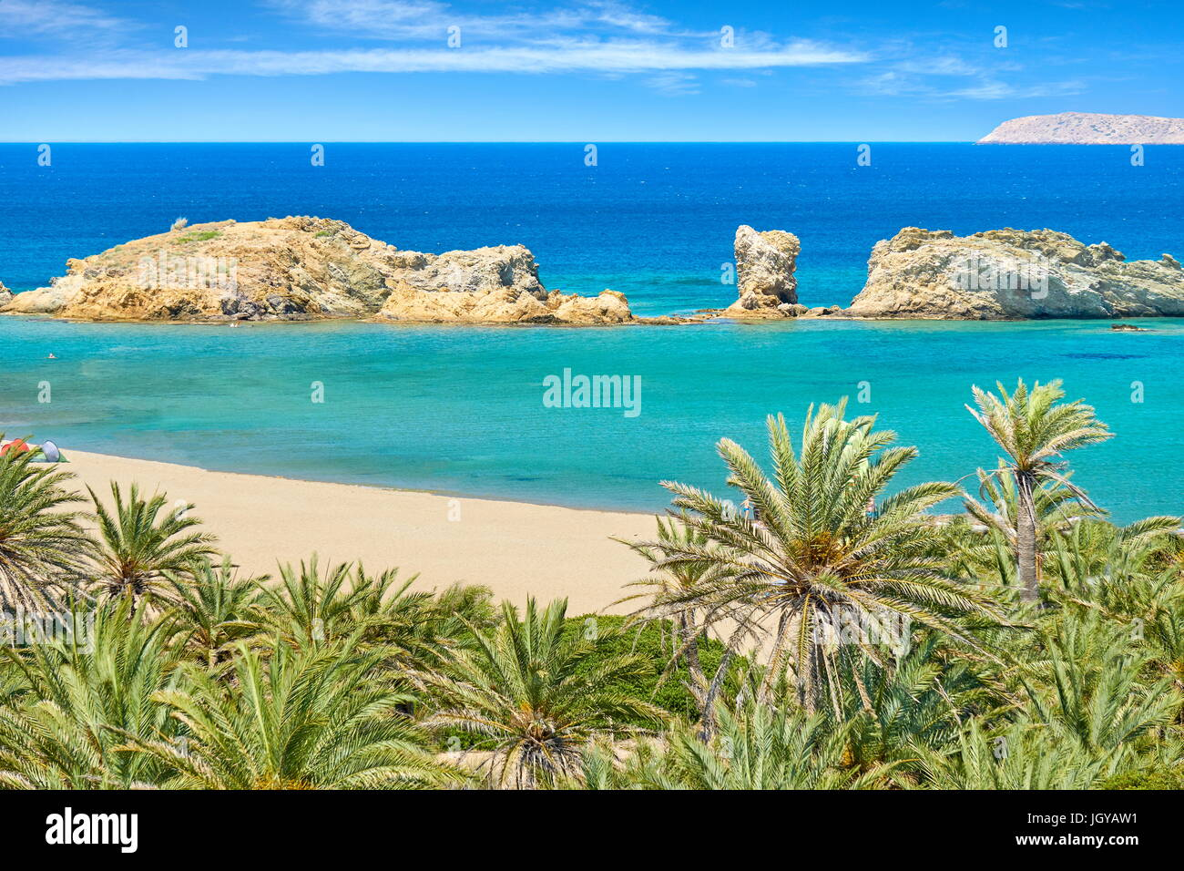 Vai Beach, Crete Island, Greece Stock Photo