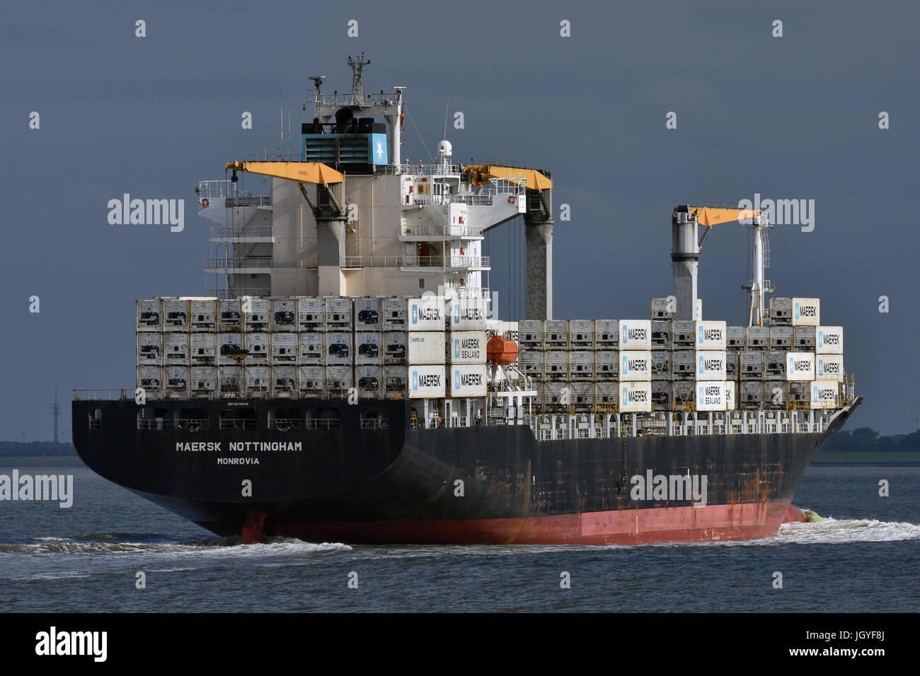 Maersk Nottingham Stock Photo
