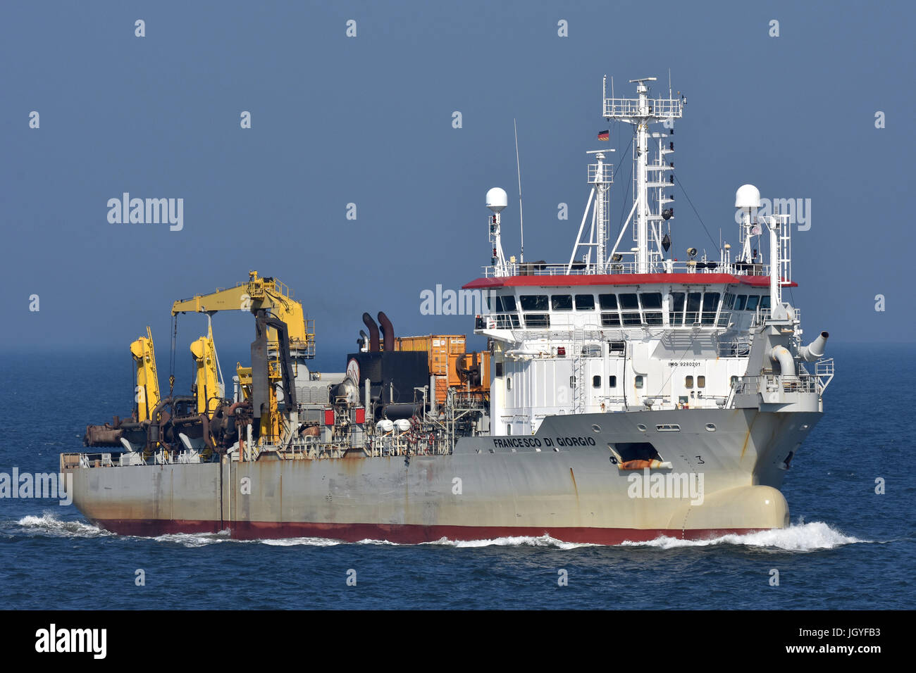 Dredger Francesco di Giorgio Stock Photo
