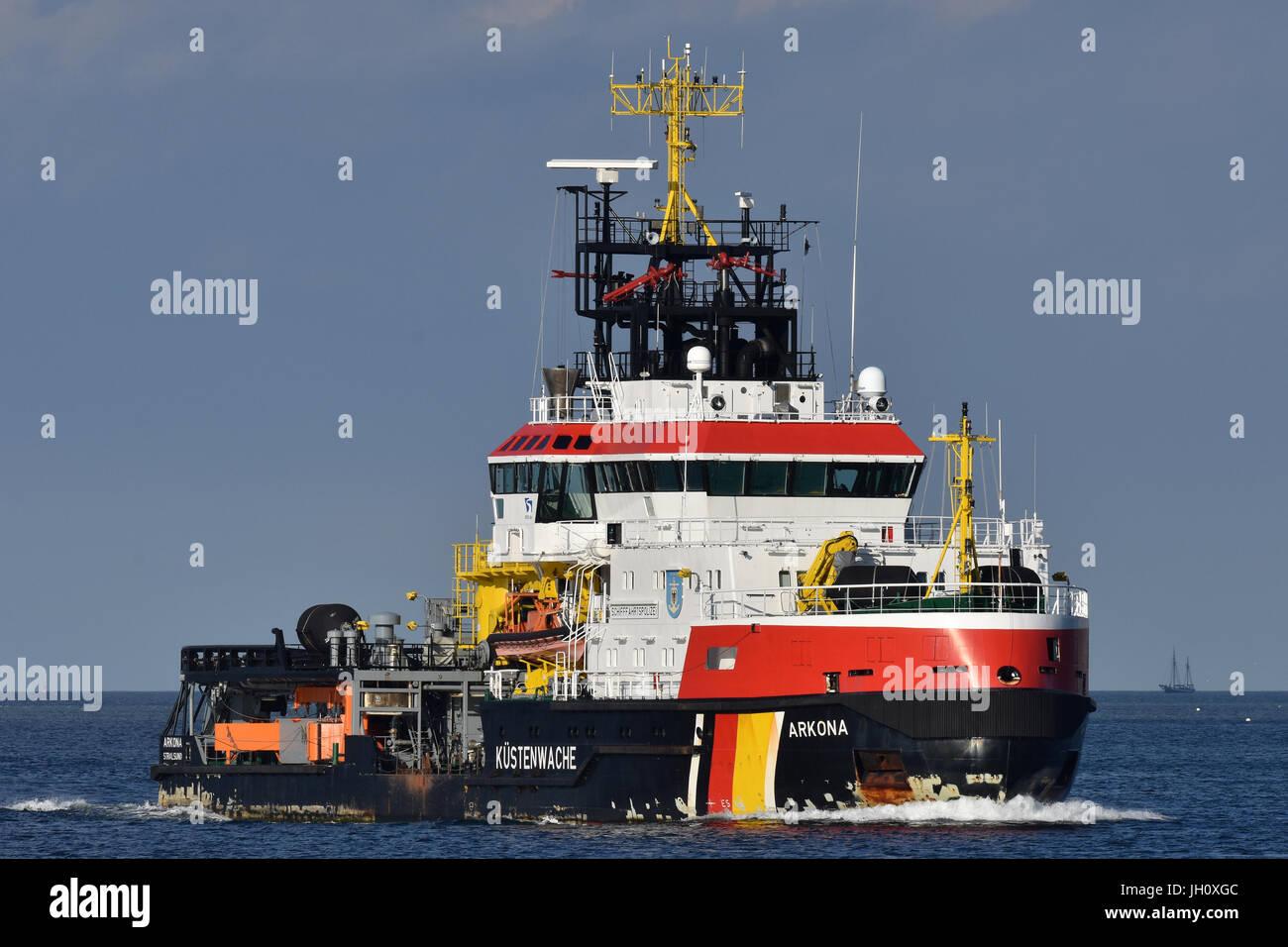 Pollution Control Vessel Arkona Stock Photo