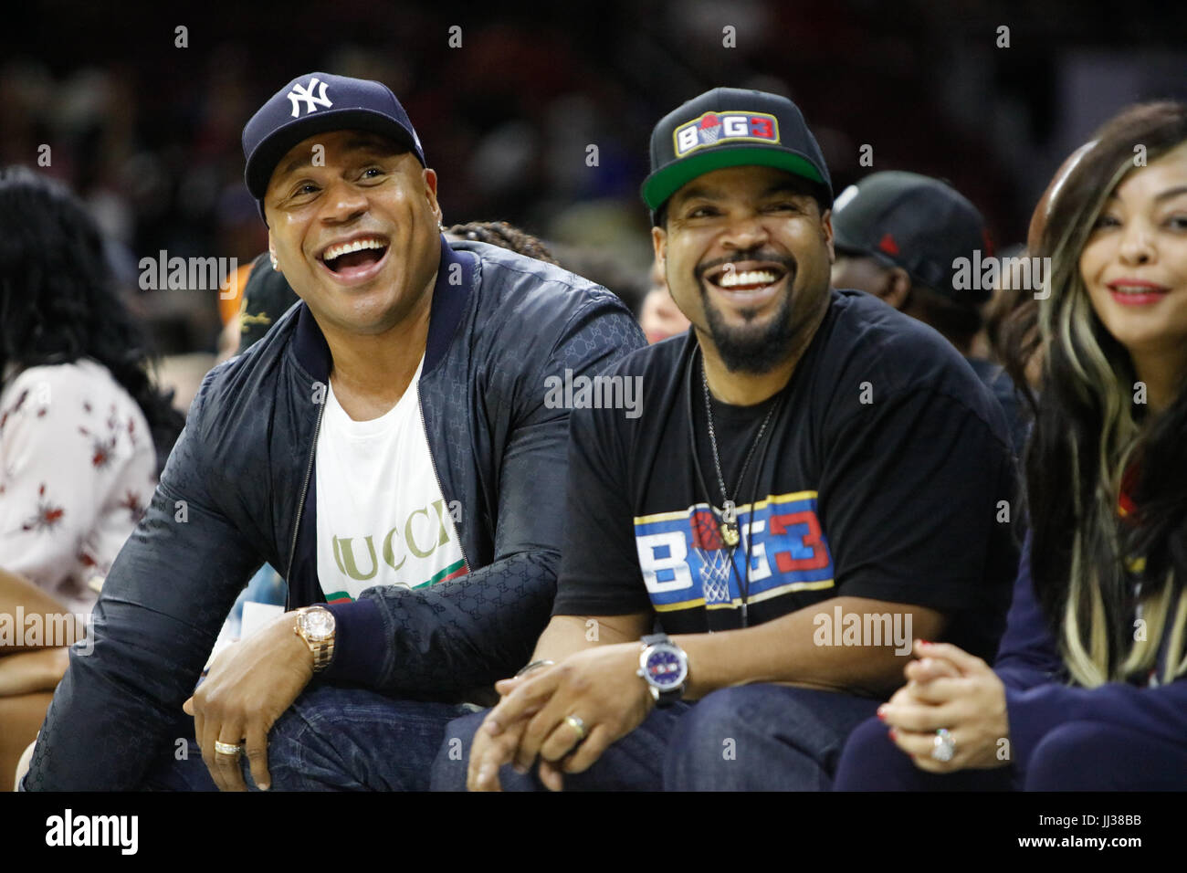 LL Cool J Ice Cube attend Big 3 league Phiily,PA 7/16/17 Stock Photo
