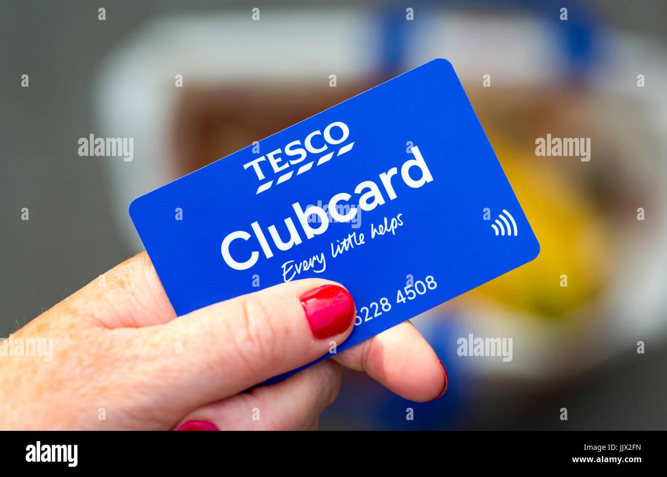 New contactless Tesco clubcard Stock Photo