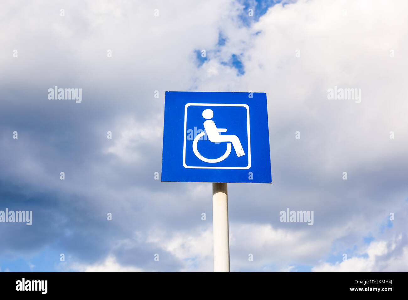 Parking sign for disabled people Stock Photo