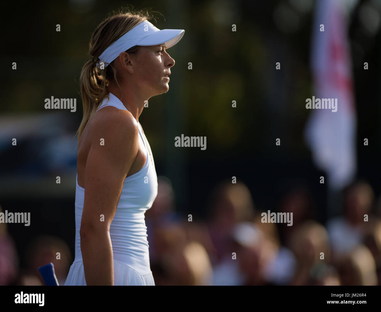 Newport Beach, United States. 24 July, 2017. Maria Sharapova at the World Team Tennis match between the OC Breakers - Stock Image