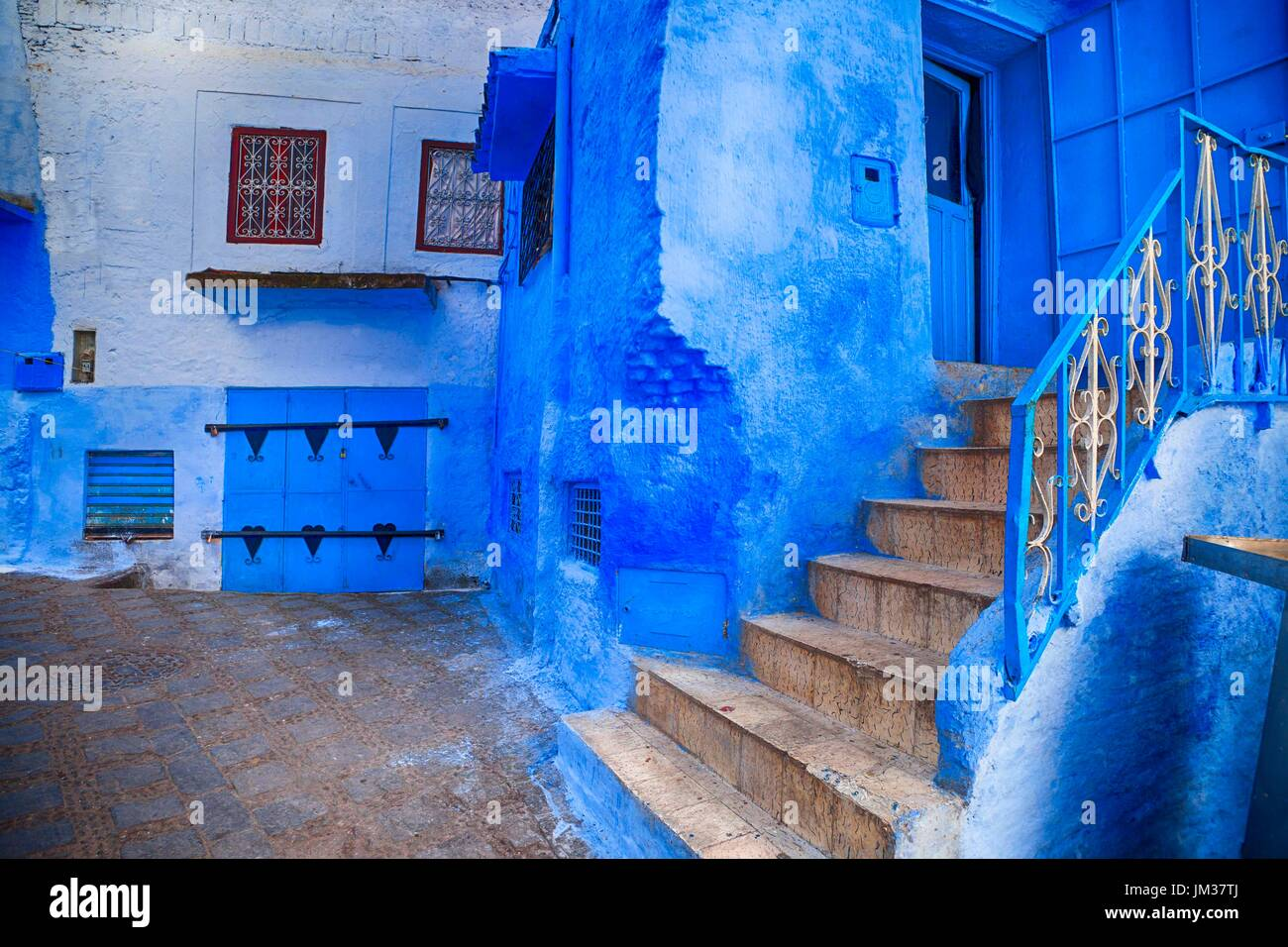 The Blue City, Morocco - Stock Image