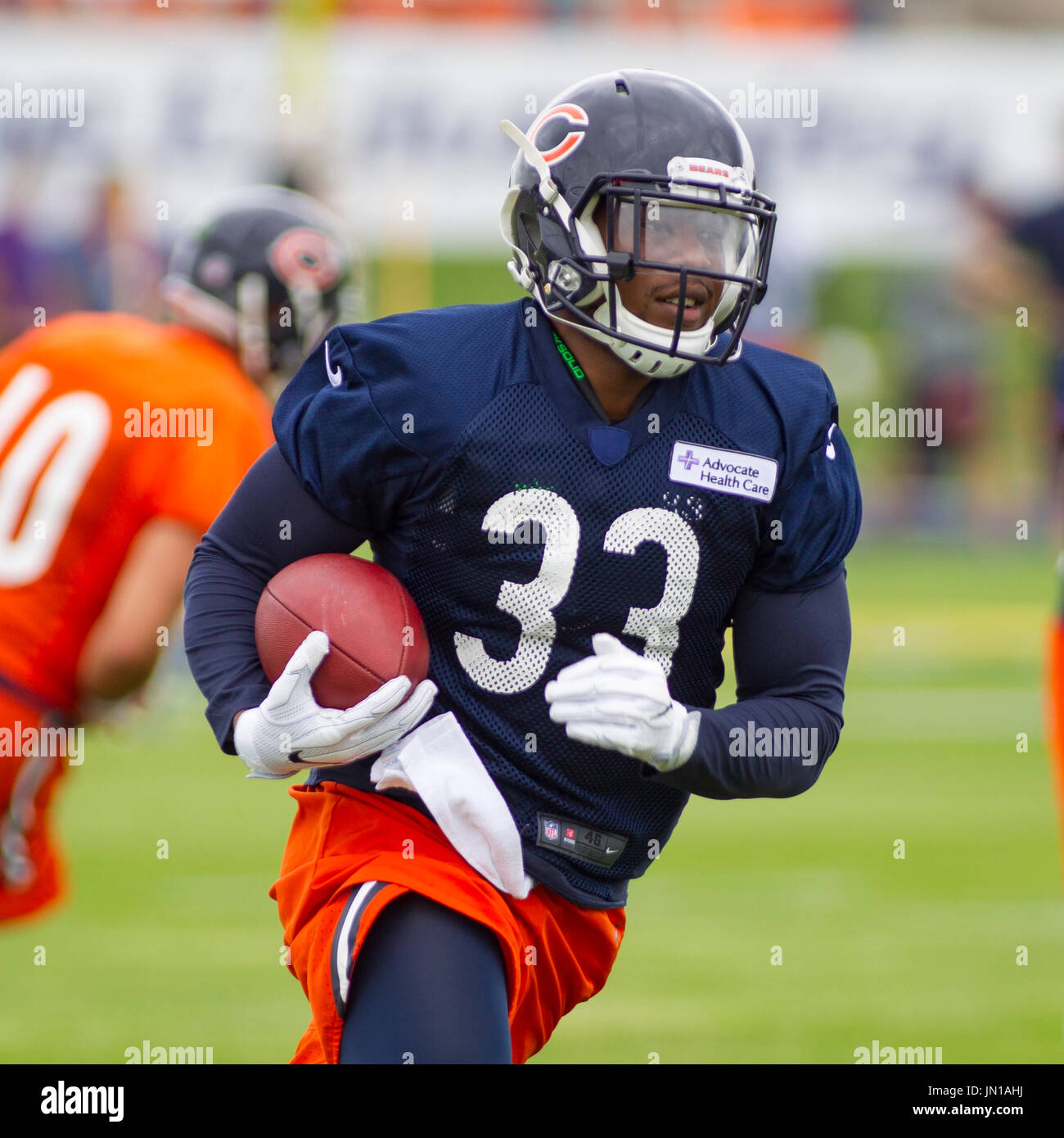 66fa4d5b0 Chicago Bears  33 Jeremy Langford in action during training camp on the  campus of Olivet Nazarene University