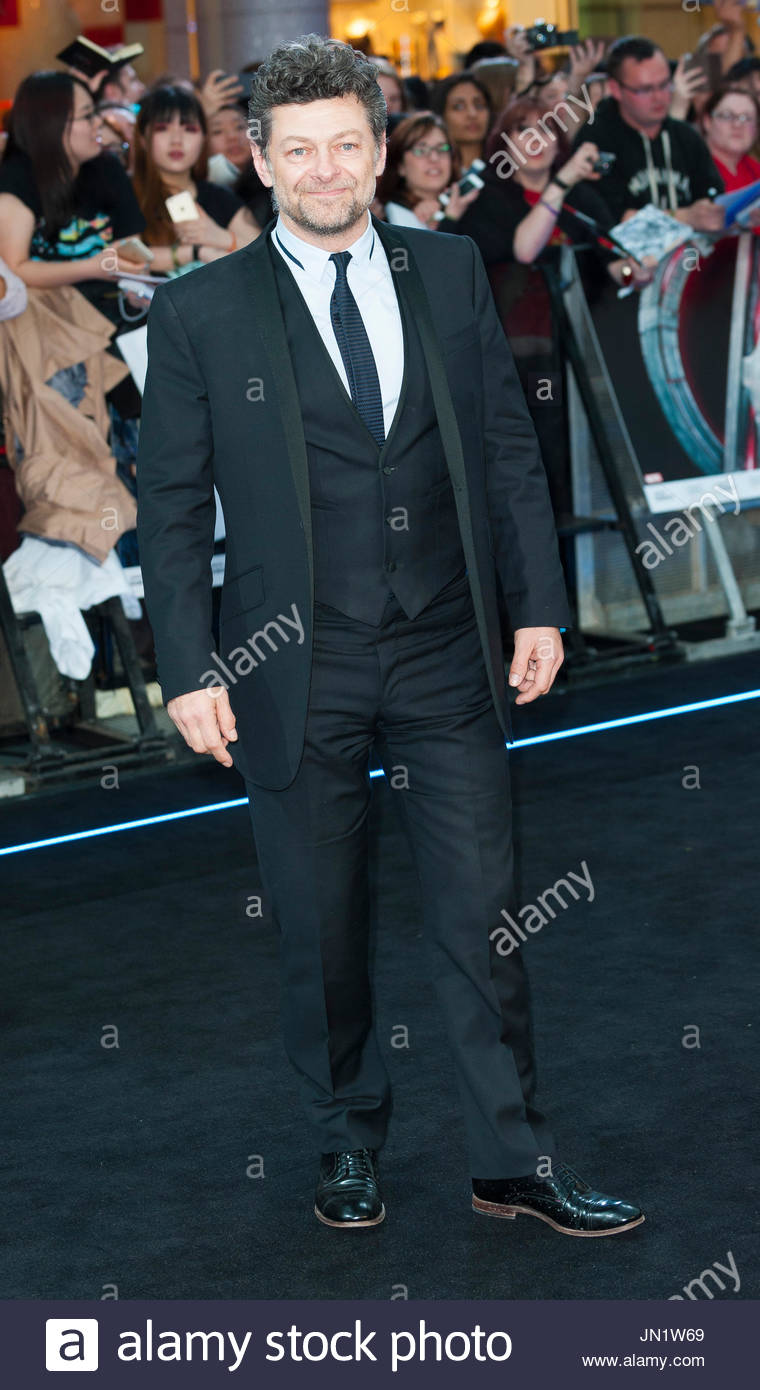 Andy Serkis. European Premiere of 'Avenger The Age of Ultron' at Westfield West London. - Stock Image