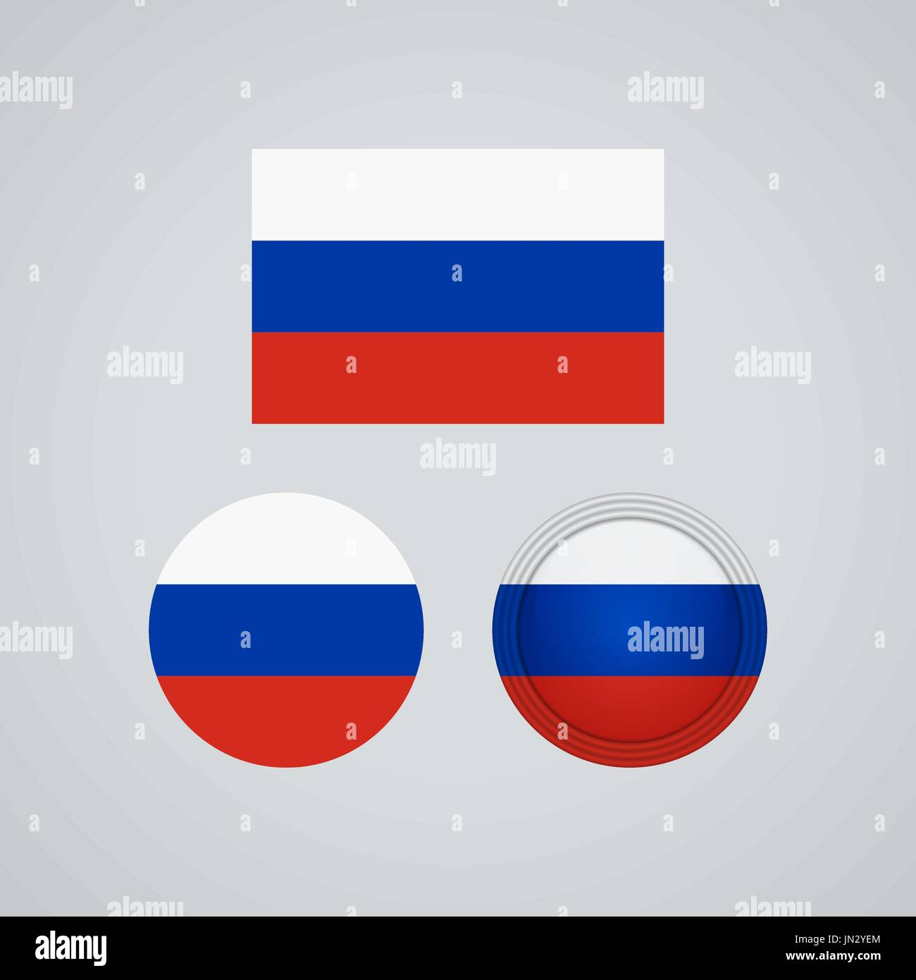Flag Design Russian Flag Set Isolated Template For Your Designs