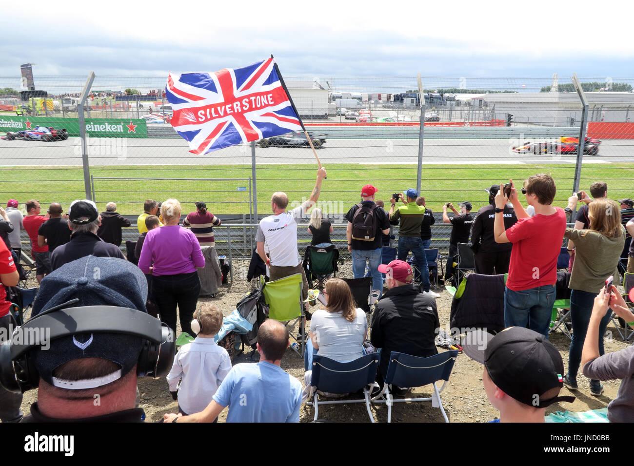 Silverstone Flag at Formula1 racing circuit - Stock Image