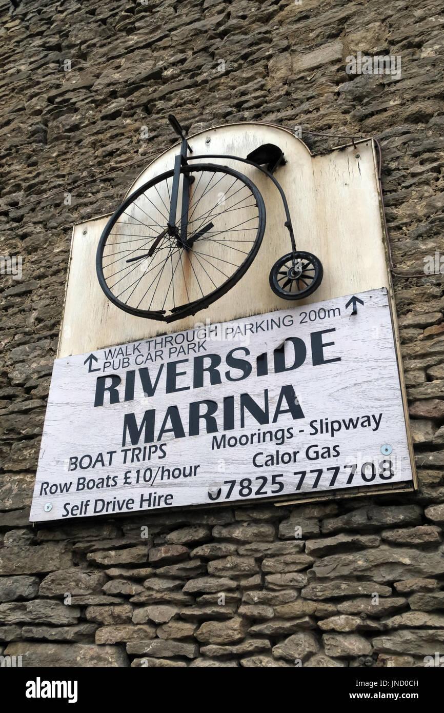 Lechlade on Thames Riverside Marina - Stock Image