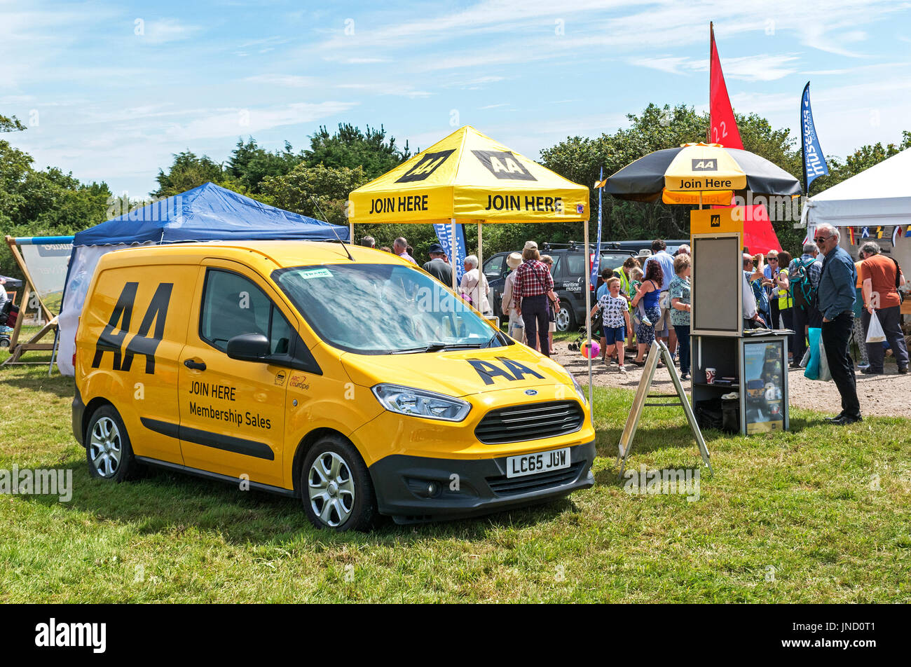 AA sales stand at a country show in cornwall, uk - Stock Image