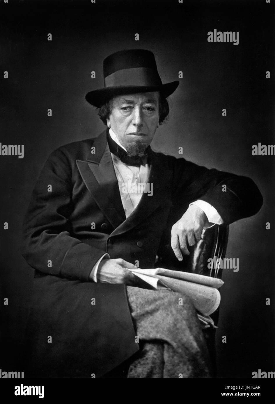 Disraeli. Portrait of Benjamin Disraeli, 1st Earl of Beaconsfield (1804-1881), photograph 1878 - Stock Image