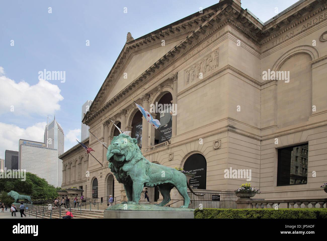 tha art institute of chicago in chicago Illinois Stock Photo