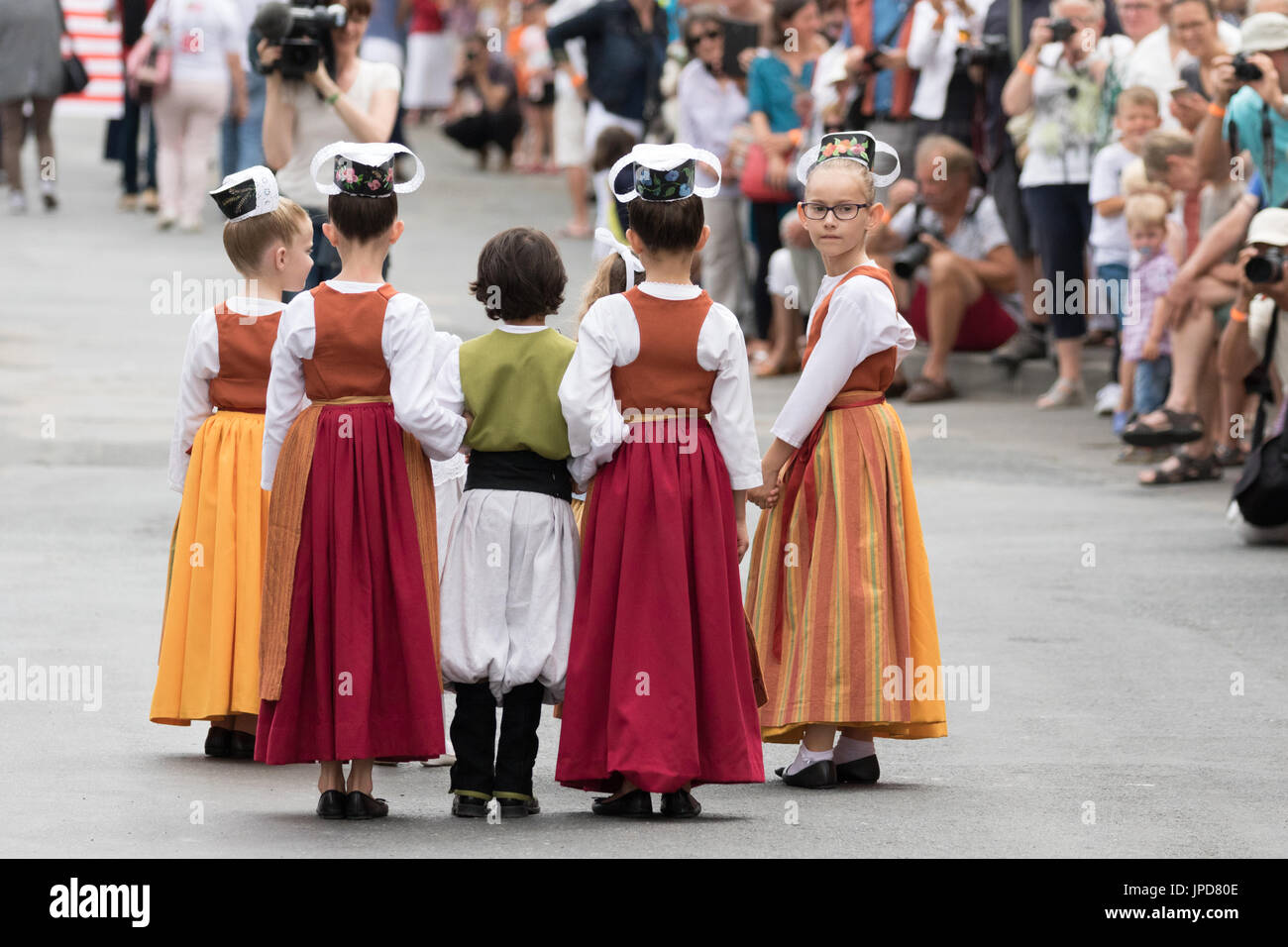 Children Traditional Costume France Stock Photos Children