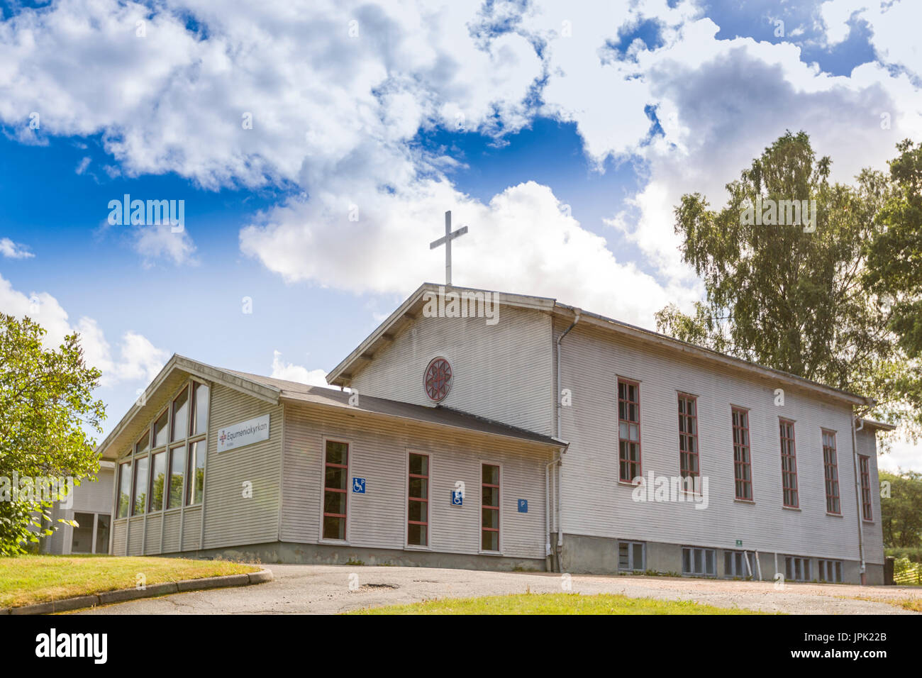 Equmeniakyrkan - Uniting Church in Sweden (UCS) church in Floda, Sweden - Stock Image