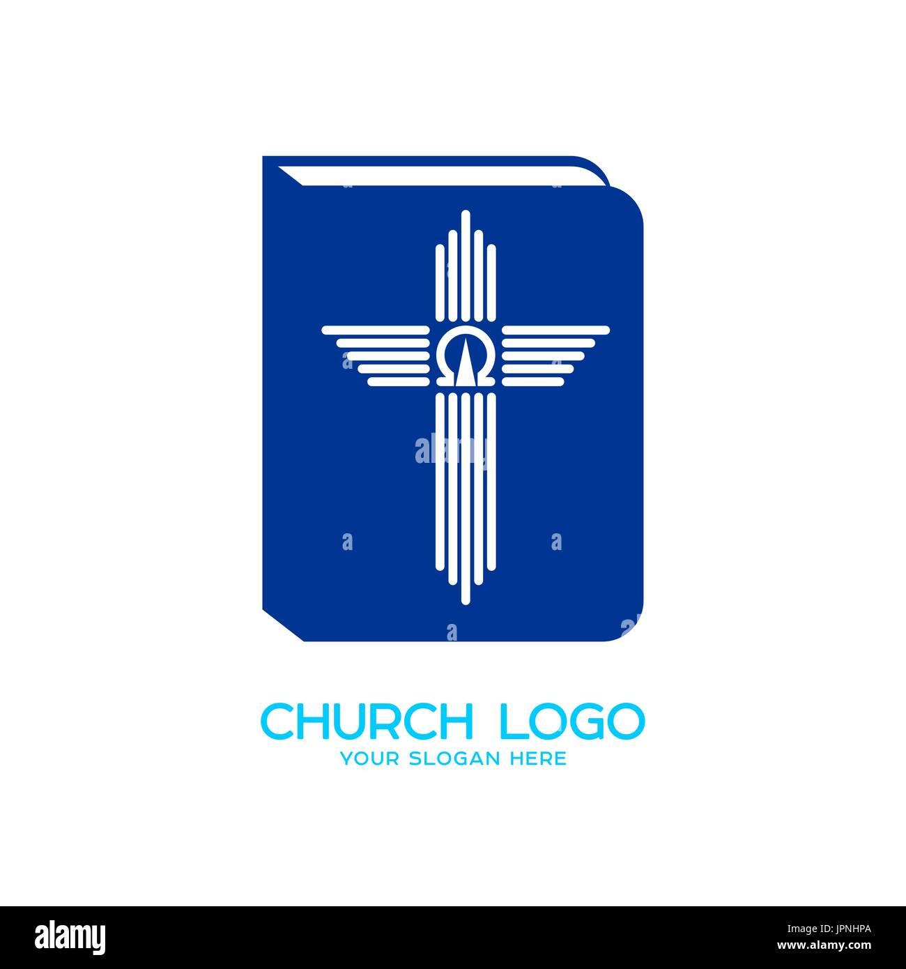 Church Logo Christian Symbols The Bible The Cross And The Symbols