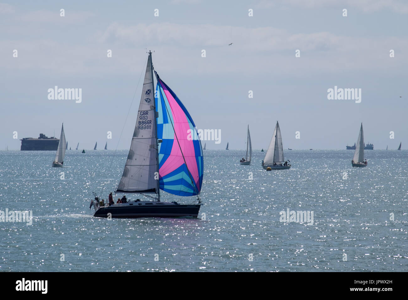 Spinnaker Sailing Stock Photos Amp Spinnaker Sailing Stock Images Alamy