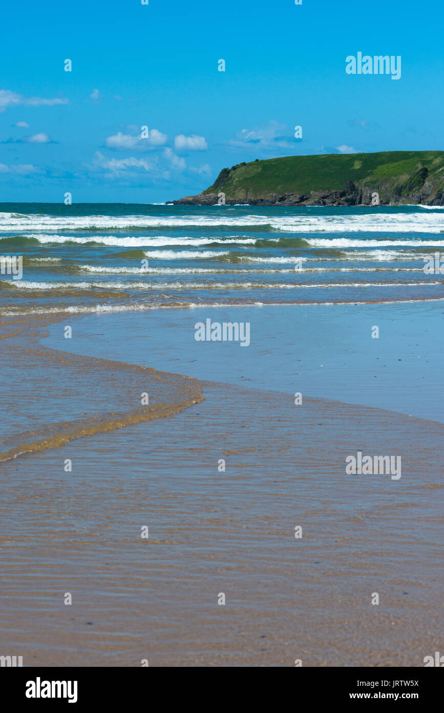 Mutton Bird Island seen from Parks beach, Coffs Harbour, New South Wales, Australia. - Stock Image