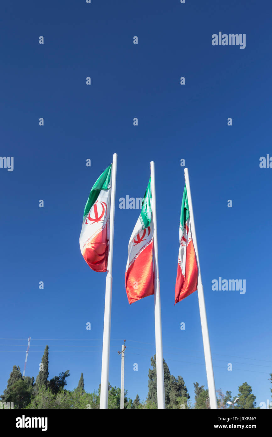 Iran flags - Stock Image
