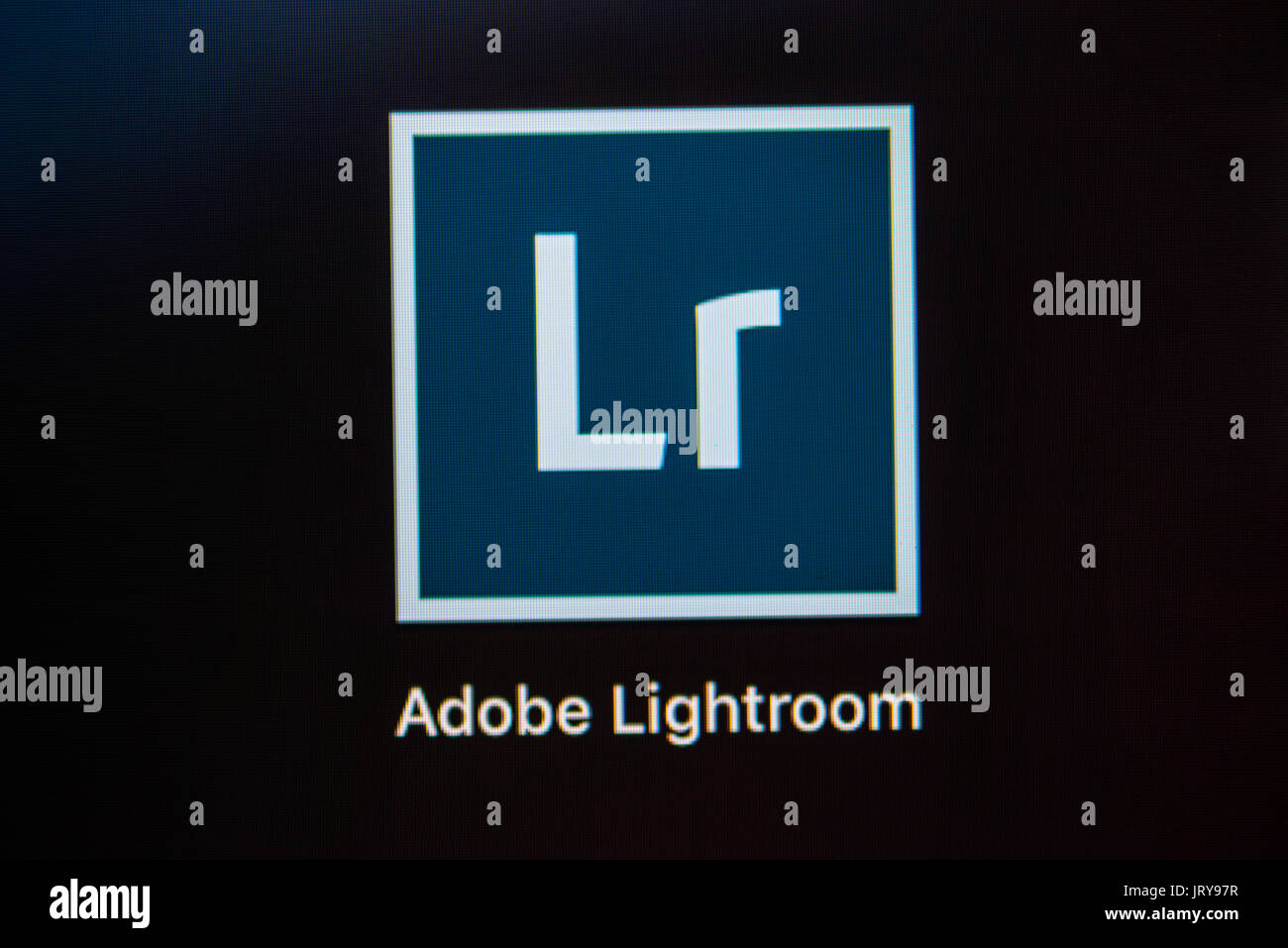 Icon, Logo, Adobe Lightroom, image editing program, image processing, macro shot, detail, full frame, screen shot - Stock Image