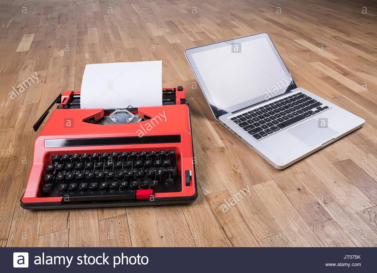 business,things,computer,modern,contemporary,evolution,evolution,evolution,portable computer,laptop,notebook computer,thin,nostalgic,sometimes,old,progress,progress,retro,renaissance,style,technology,technology,typewriter,type,view - Stock Image