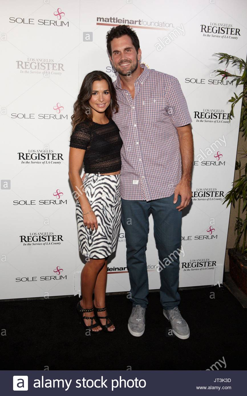Josie Loren Matt Leinart Arrivals At Matt Leinart Foundations 8th Annual Celebrity Bowl For Charity Event At Lucky Strikes On July 17 2014 In Hollywood