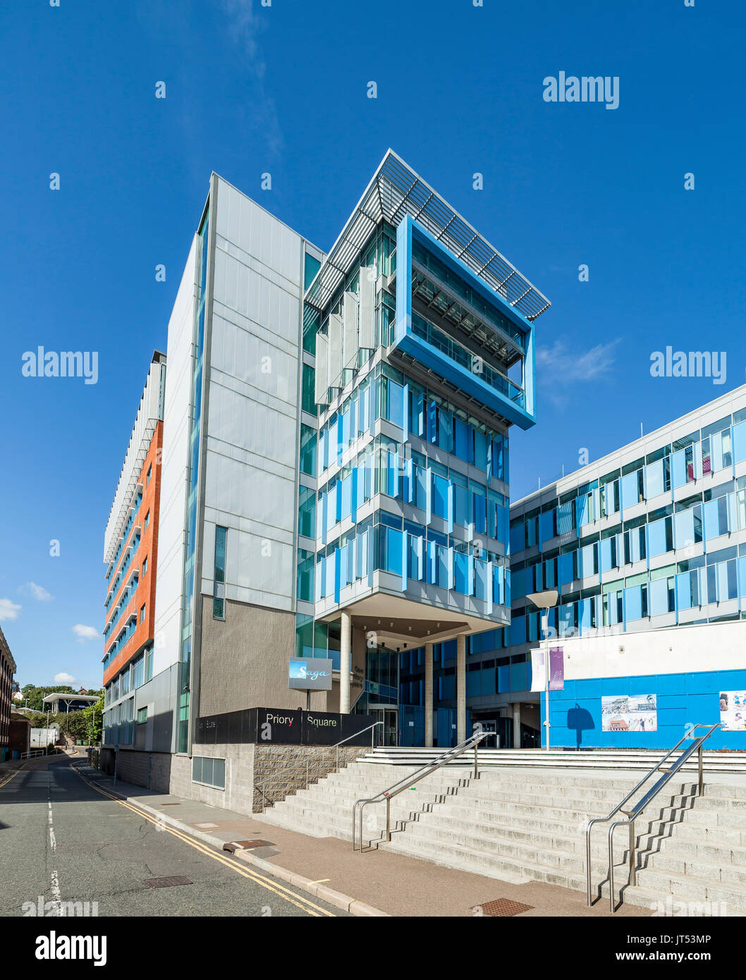 Saga Offices One Priory Square office block in Hastings. - Stock Image