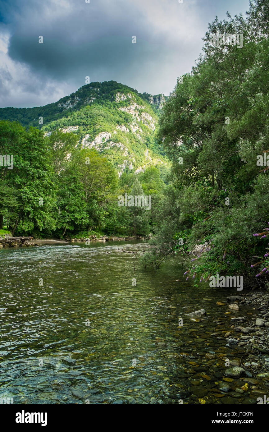 Area around Castet lake, Pyrénées-Atlantiques, France. - Stock Image