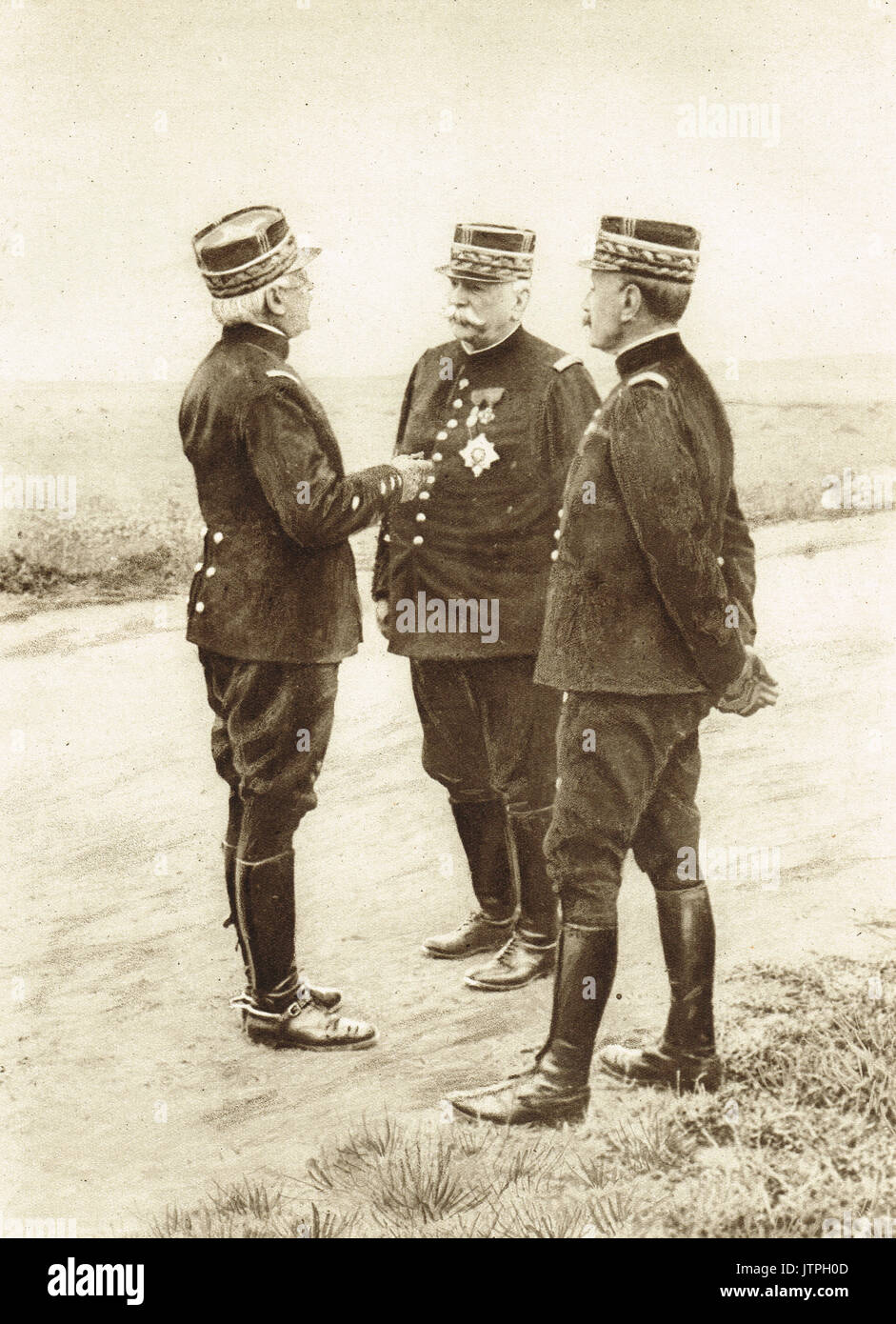 French military leaders Joffre, Foch & d'Urbal - Stock Image