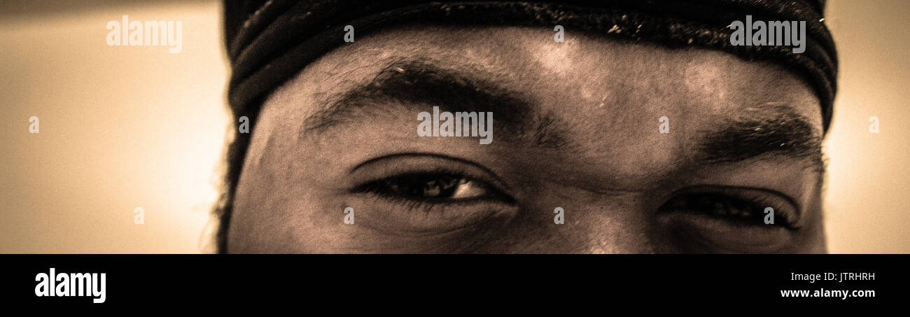 The look of certainty - Stock Image