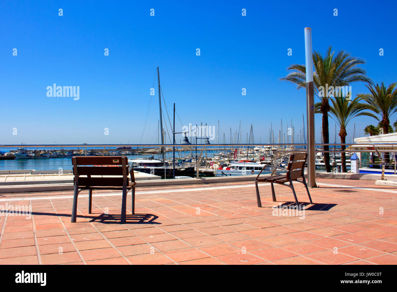 Port. Estepona city, Costa del Sol, Andalusia, Spain. 24 july 2017. - Stock Image