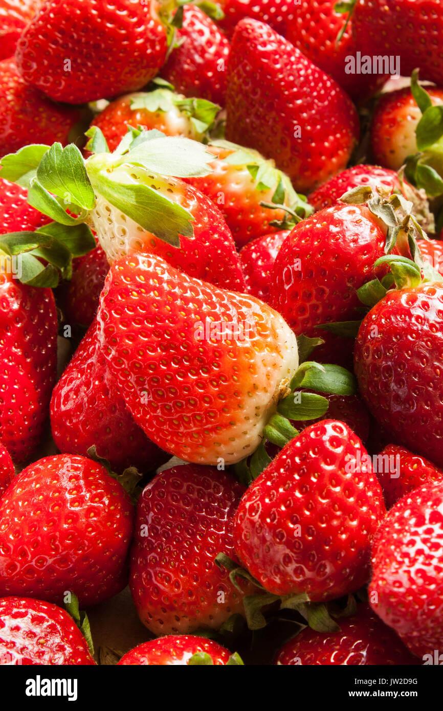 strawberries texture background - Stock Image
