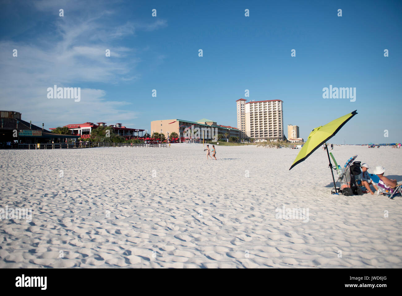 A View Of Shops Restaurants Bars And Hotels Along Casino Beach In