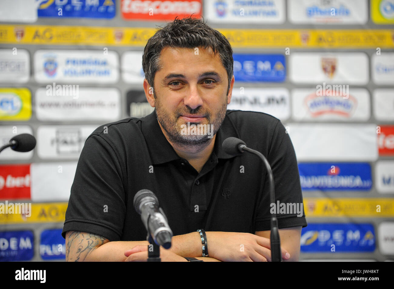 Claudiu Niculescu, the head coach of FC Voluntari - Liga 1 (Romanian Football League One) game between FC Voluntari - Stock Image