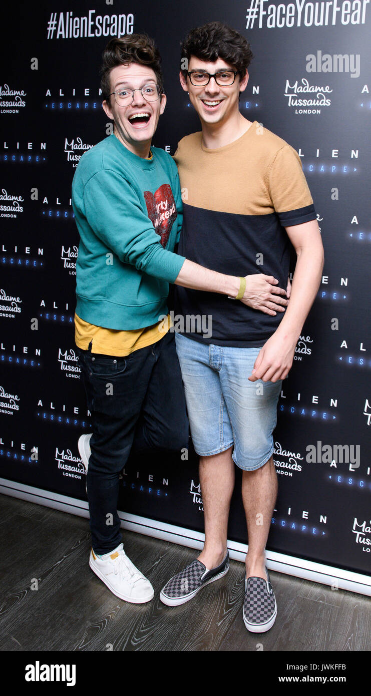 Celebrities attend the launch of  Alien Escape at Madame Tussauds London  Featuring: Matt Richardson Where: London, Stock Photo