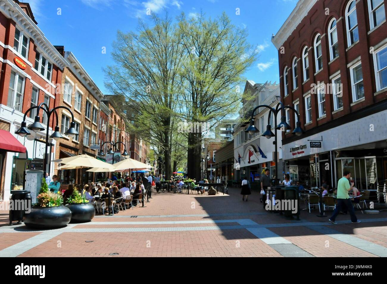 Charlottesville, Virginia, taken on a road trip in April 2013 Stock Photo