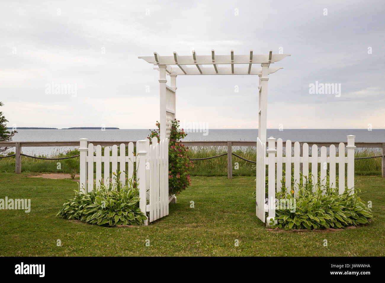 White Garden Arch Looking Out To Sea In Canada